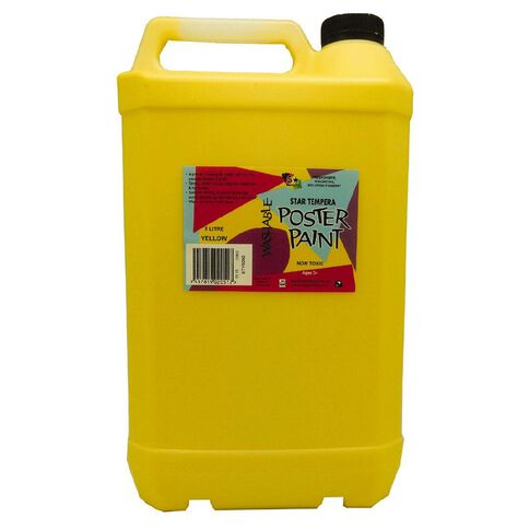 Fivestar Tempera Poster Paint Yellow 5 Litre
