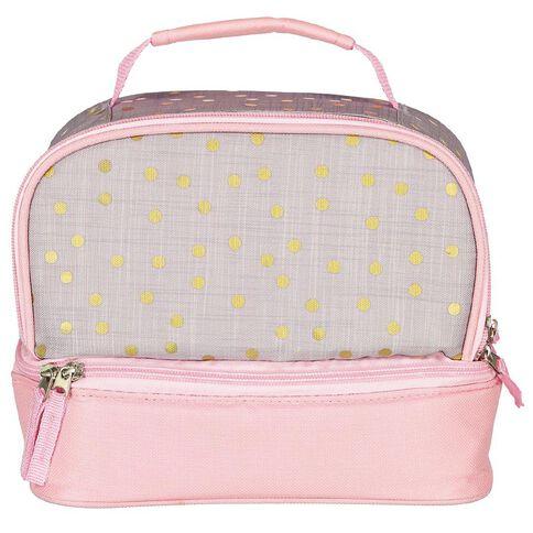 Living & Co Double Decker Lunch Bag Gold Dot