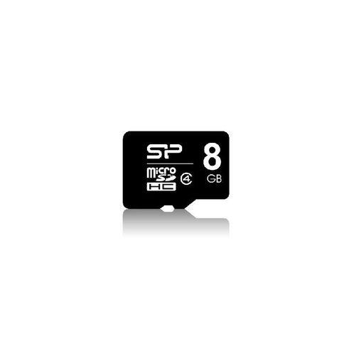 Silicon Power 8GB Class 4 MicroSD Card Black