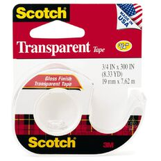 Scotch Tape With Dispenser 19mm x 7.62m Clear