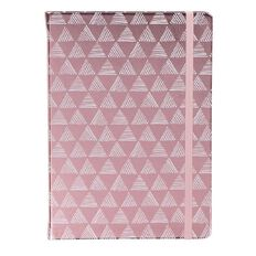 Uniti F&F PU Notebook White Triangle With Pink Foil A5