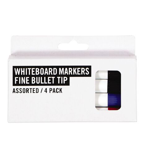 Deskwise Whiteboard Markers Assorted 4 Pack