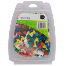 Impact Push Pins 200 Pack Assorted