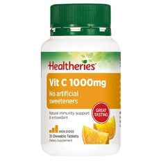 Healtheries Vitamin C Chewable 1000mg 35 Pack