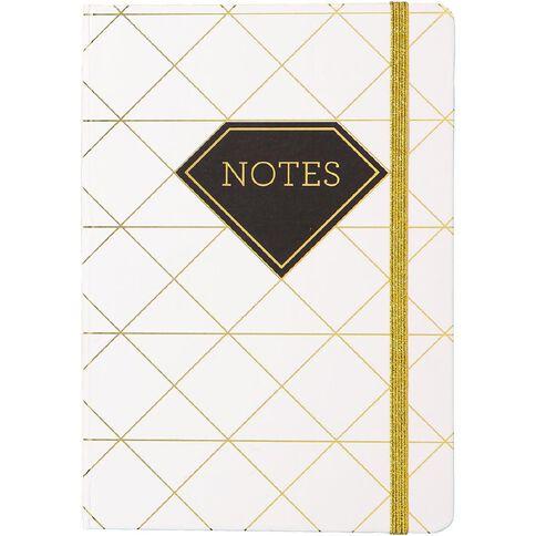 Uniti Black&Gold Hardcover Notebook White/Gold A5