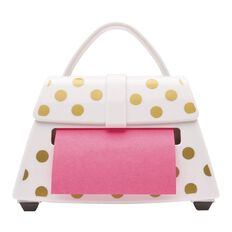 Post-It Gold Dot Purse Pop Up Dispenser White