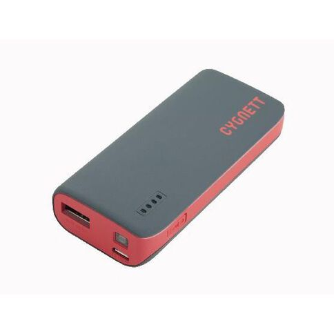 Cygnett Chargeup Sport Powerbank 4400mAh Grey/Red Trim