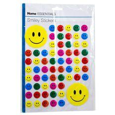 Home Essentials Smiley Stickers