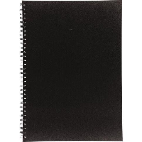 Uniti Visual Diary Spiral 110gsm 60 Sheet Black A3