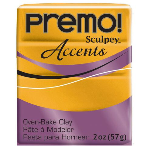 Sculpey Premo Accent Clay 57g Gold