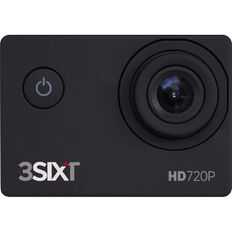 3-SIXT HD Sports Action Camera 720P Black