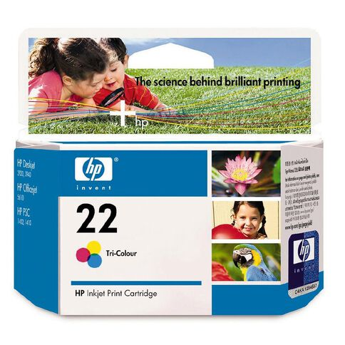 HP Ink 22 Colour (165 Pages)