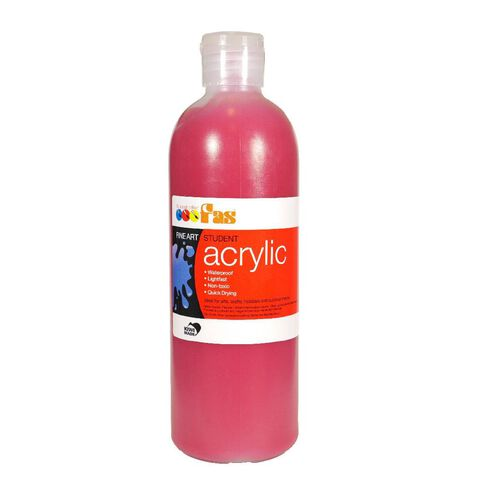 FAS Paint Student Acrylic 500ml Cool Red Red 500ml