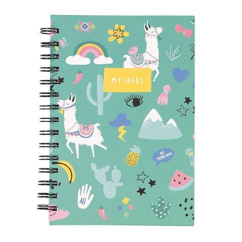 Uniti Llama Hardcover Notebook Spiral A5