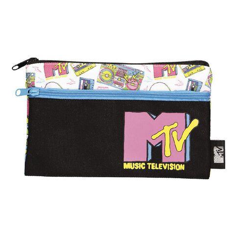 2 Pockets Pencil Case Colourful