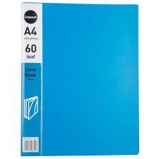 WS Clear Book 60 Leaf Blue A4