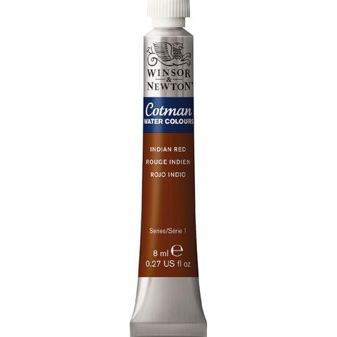 Winsor & Newton Cotman Watercolour Paint 8ml Indian Red 317