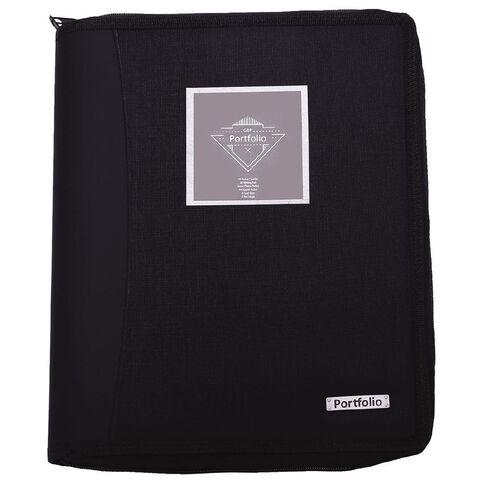 Portfolio Compendium With 10 Page Display Book Black A4