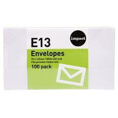 Impact Envelope E13 Seal 100 Pack White