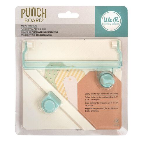 We R Memory Keepers Tool Tag Punch Board