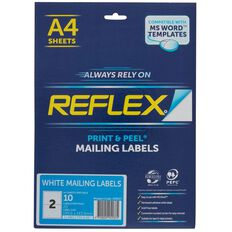 Reflex Internet Shipping Labels 2 Per Sheet 10 Pack A4