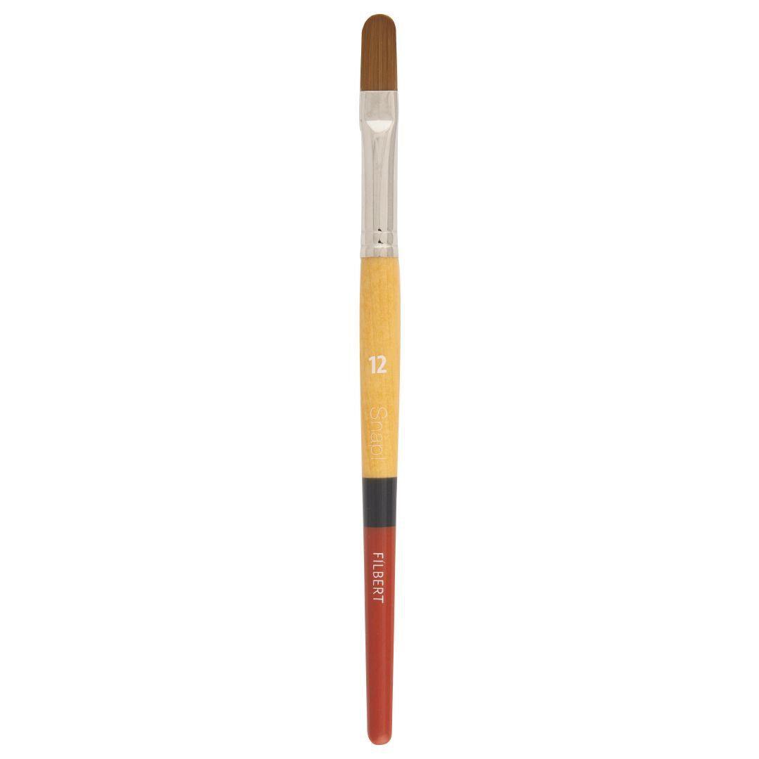 Princeton Art /& Brush Co Snap Short Handle White Nylon Taklon Brush Round 6