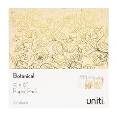 Uniti Botanical Paper Pack 12in x 12in