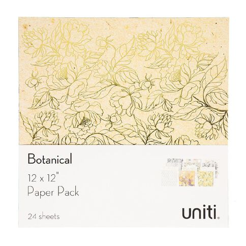 Uniti Botanical Paper Pack 12in x 12in