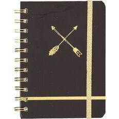 Uniti Black&Gold Spiral Notebook A6