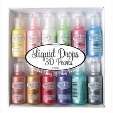 Couture Creations Liquid Drops 3D Pearls 12 Pieces