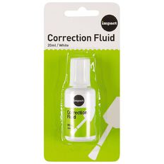 WS Correction Fluid 20ml White