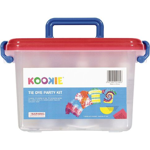 Kookie Tie Dye Kit Party Case 74 Piece