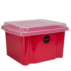 Impact Suspension File Box With Lid Red