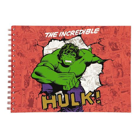 Marvel Kids Scketchpad The Incredible Hulk Red A4