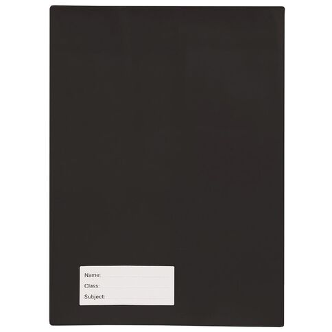 Solid Book Sleeve Black A4