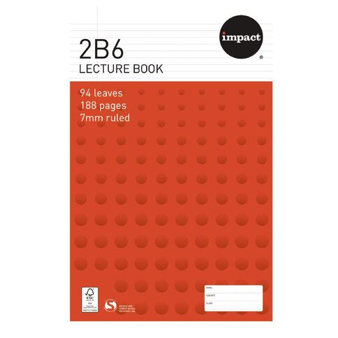 WS Exercise Book 2B6 7mm Ruled Hardcover 94 Leaf