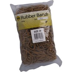 Marbig Rubber Bands 500g #34 Brown