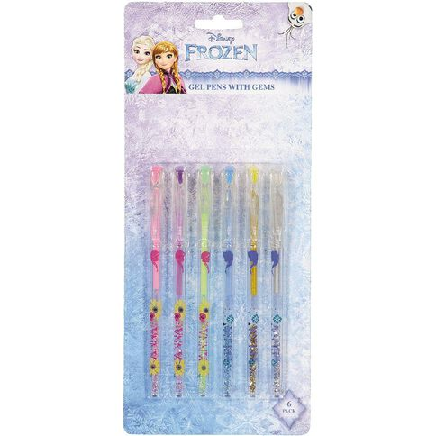 Frozen Gel Pen With Gems 6 Pack