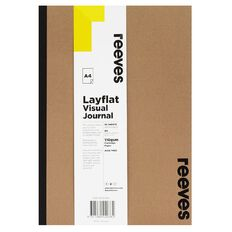 Reeves Visual Journal Layflat Kraft A4 30 Sheets Brown