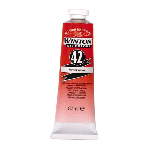 Winsor & Newton Winton Oil Paint 37ml Vermillion Red