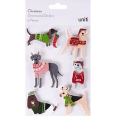 Uniti Christmas Dimensional Stickers 6 Piece