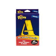 Projex PVC Alphanumeric Stencils Reusable 7.5cm 60 Piece