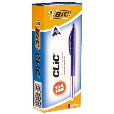 Bic Clic Pens 2000 10 Pack Blue