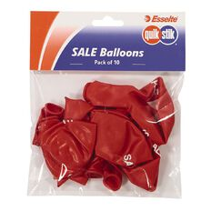 Quik Stik Labels Sale Balloons 10 Pack Red
