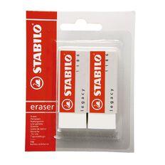 Stabilo 1186/2 Legacy Large Eraser White