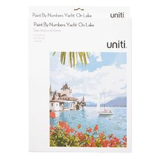 Uniti Paint By Numbers Yacht In Lake 300mm x 400mm