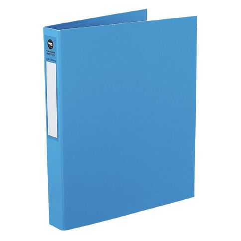 WS Ringbinder 2D 25mm Blue A4