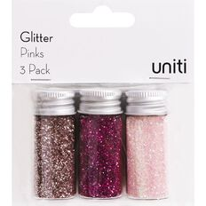 Uniti Glitter Pinks 3 Pack