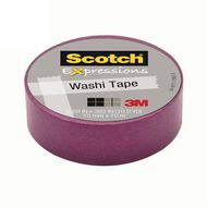 Scotch Washi Craft Tape 15mm x 10m Purple