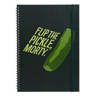 Ricky and Morty Disney Rick & Morty Soft Cover Notebook Green A4